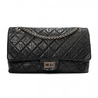 Chanel Black 2.55 Reissue Quilted Calfskin 227 Flap Bag