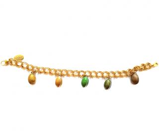 Faberge Imperial Enamel Egg Gold Plated Bracelet