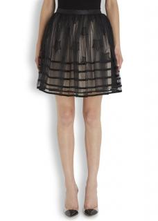 REDValentino Tulle Embroidered Skirt