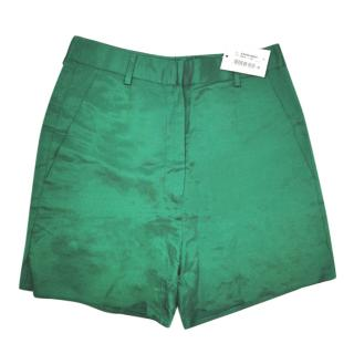 MM6 Maison Margiela Green High Waist Shorts