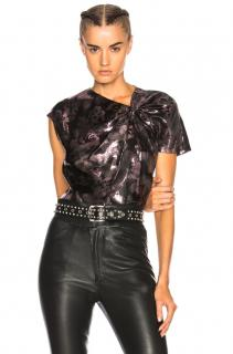 Isabel Marant Malo Metallic Gathered Top