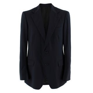 Prada Navy Wool Single Breasted Tailored Jacket
