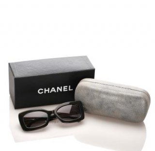 Chanel Rectangle Brown Tinted Sunglasses