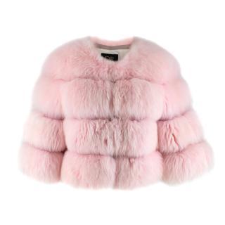 DR by Daria Radionova Pink Fox Fur Jacket
