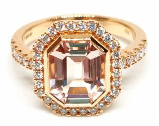 William & Son Morganite & Diamond Ring