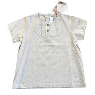 Baby Dior Grey Cotton Top