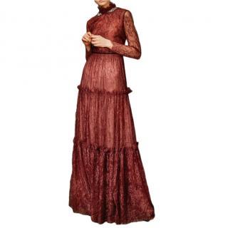 Erdem Carolyn crystal-embellished lace gown