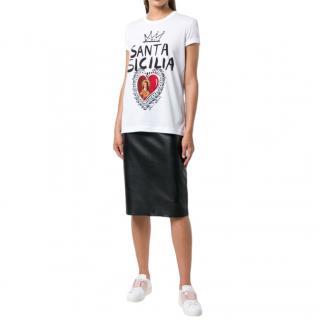 Dolce & Gabbana Santa Sicily print T-shirt