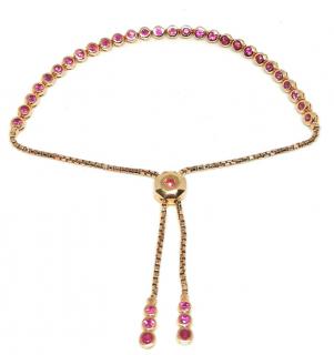 Cassidy Diamonds 18ct Gold Ruby Tennis Bracelet