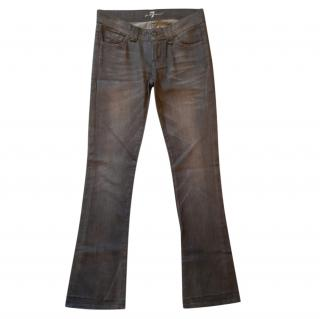 7 For All Mankind Grey Bootcut Jeans