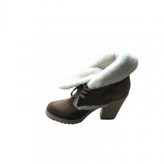 Prada Sport Shearling Lined Ankle Boots