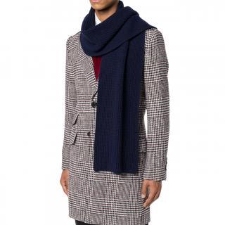 Dolce & Gabbana Virgin Wool Blue Scarf