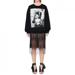 Christopher Kane Black Marilyn Monroe Print Sweatshirt