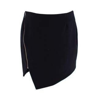 Nicholas Black Bonded Asymmetric Zipped Mini Skirt