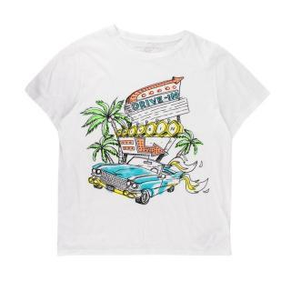 Stella McCartney White Cotton Drive-In T-shirt