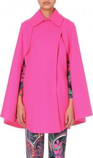 Emilio Pucci Virgin Wool Pink Cape