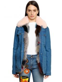 Mr & Mrs Italy Fox Fur Lined Denim Jacket