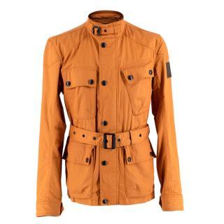 Belstaff Orange Waxed Cotton Trialmaster Jacket
