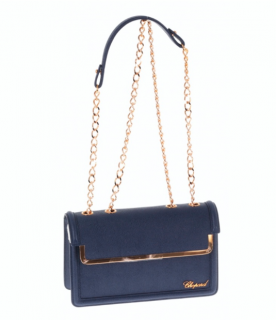 Chopard Blue Caviar Leather Shoulder Bag