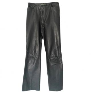 Barbara Bui Black Lambskin Trousers