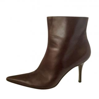 Dolce & Gabbana brown leather ankle boots