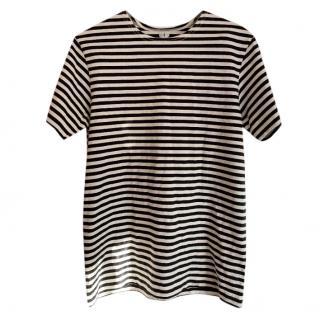Arket Black & White Striped Top