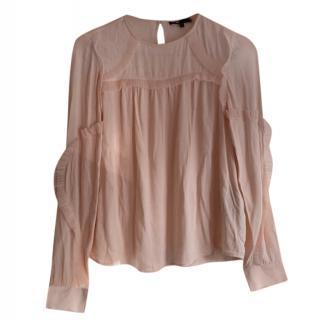 Maje Pink Silk Blouse