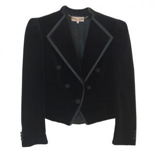 Escada Black Velvet Tailored Jacket