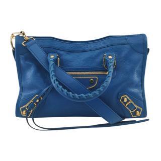 Balenciaga Blue Metallic Edge City Bag