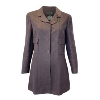 Chanel Boutique Vintage Linen & Wool Blend Jacket
