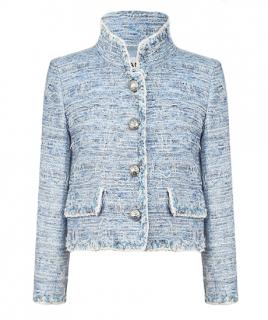 Chanel Blue Eyelash Tweed Fantasy Jacket