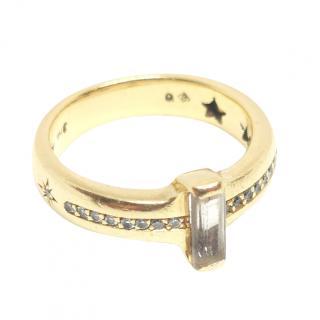 H Stern Diamond & Rock Crystal 18ct Yellow Gold Ring