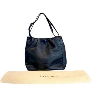 Loewe Black Leather Shoulder Bag