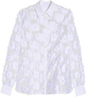Victoria Victoria Beckham Floral Jacquard Shirt