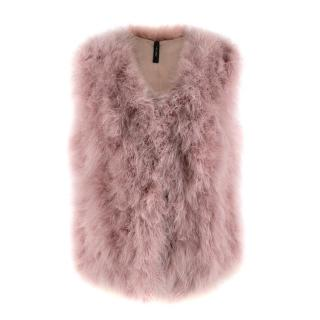 Marc Cain Pink Feather Gillet