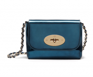 Mulberry Blue Lily Mini Leather Cross-body Bag