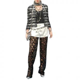 Chanel Black Chain Draped Embellished Jacket