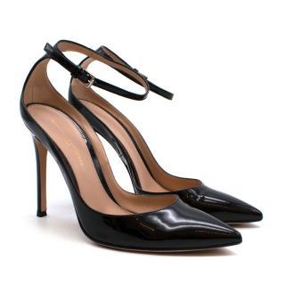 Gianvito Rossi Black Patent Strappy Sandals