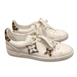 Louis Vuitton White/Leopard Stellar Low-Top Sneakers