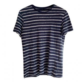J.Lindeberg Striped Linen Top