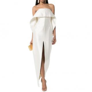 Solance London ivory strapless midi dress