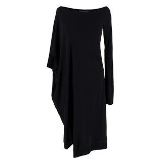 McQ Alexander McQueen Black Jersey Asymmetric Dress