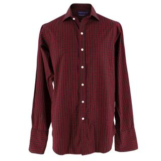 Ralph Lauren Double Cuffed Cotton Tartan Red Shirt