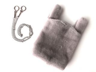 FurbySd Natural Sapphire Mink Fur Bag