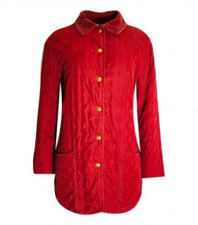 Hermes Red Cotton Classic Jacket