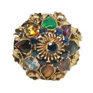 Bespoke Yellow Gold Thai Princess Harem ring