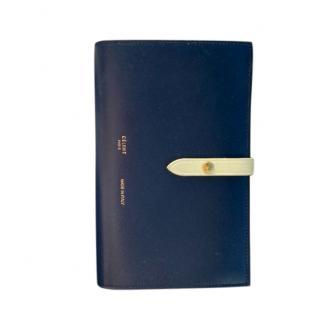 Celine Bi-Colour Calf Leather Strap Wallet