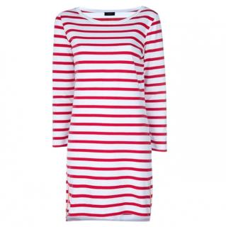 Joseph Red & White Striped Dress