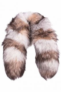 FurbySD Striped Fox Fur Collar Scarf