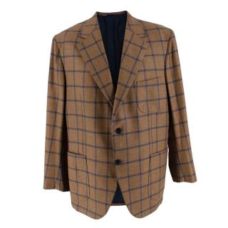 Donato Liguori Cotton Blend Checkered Blazer